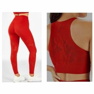 Red Camo Ambition Workout Outfit